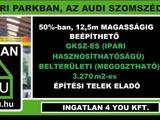Eladó 3270 m2 ipari, keresk. telek, Győr